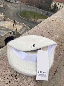 الرجل مصمم الكنغر ضوء طبعة قبعة kangol الأرنب حقيقي غطاء الفرو