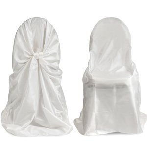 50 قطع الحرير العالمي غطاء كرسي ل زفاف الذاتي التعادل غطاء كرسي للحزب مطعم حفل زفاف تفضل مع جودة عالية
