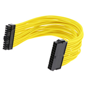 M   F Extension For PSU Power Supply For PC A 24 Pin ATX 30 Cm Yellow