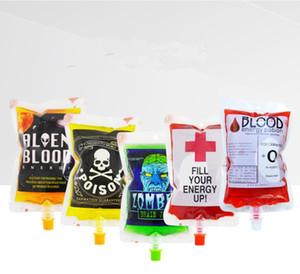 Кровь мешок для напитков пить колбу сумка Кружки Пустого Vampire Дневник Halloween Food Safe многоразовых Пейте Контейнеры Сумки Кубков