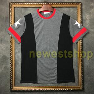 2020 estate più nuovi di stampa mens vestiti di modo patchwork magliette grigio rosso della stampa della stella della maglietta bianca delle donne Designer cotone maglietta