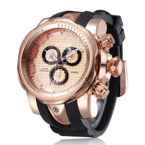 Famosa Marca Militar Reloj de Cuarzo Hombres Relojes Deportivos Ejército Masculino Reloj Reloj Grande Reloj de Pulsera Para Hombre Relogio masculino Grande Y19051703