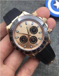 Relojes de diseño El diseño maestro de relojes de lujo reloj Montre de luxe, M116518, M116515, M116519. , Correa de caucho, el tiempo de seis aguja