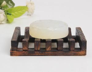 Nuevo Inicio de bambú jabón portable de madera Plato de ducha de jabón caja de jabón bandeja de soporte del contenedor de caja de almacenamiento