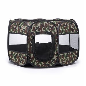 New Arrival Camouflage Outdoors For Dogs Pet House Breathable Portable Dog Tent Indoor Foldable Dog House Octagon Pet Fence