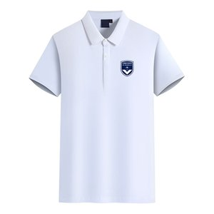 FC Girondins de Bordeaux Football Club Logo Men's Fashion Golf Polo T-Shirt Men's Short Sleeve polo T shirt