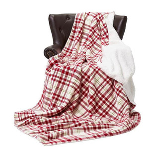 152cm*230cm Flannel Fleece Plaid Blanket Warm Soft Striped Blankets Double Carpet Plush Cape Portable Beddings Swaddling GGA2672