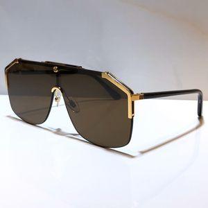 0291 дизайнер солнцезащитные очки для мужчин женщин моды маски унисекс очки Полурамка покрытие Зеркало объектива Углеродные волокна Ноги Летний стиль 0291S