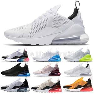 Nike Air Max AirMax React 270 27c Shoes zapatos corrientes del mens Triple Blanco Rojo Universidad de oliva voltios Habanero Flai diseñador de los hombres zapatillas de deporte