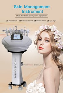 Multifuncional ultrasónico fría belleza de martillo estiramiento facial rejuvenecimiento de la piel piel de apriete instrumento Para Comercial uso en el hogar