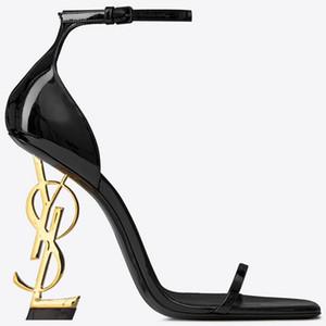 les plus récents top07 mode Chaussures femmes designero626 talons hauts talons hauts de lettres en cuir véritable talon chaussures partie pantoufle sandales banquet mariage s