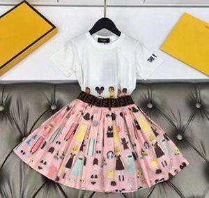 Yeni Yüksek kaliteli Bebek Kız Yaz Elbise Çocuk Elbise kısa Sleevele çocuk elbise