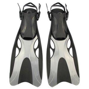 Swim Fins para adulto ajustáveis Shoes Swimming sapo Silicone Professional Dive Team Abrir Mergulho Snorkeling longas nadadeiras de mergulho