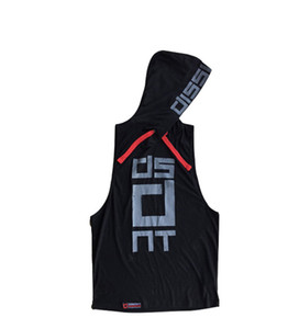 Hommes T-shirts manches chandail à capuchon sport Gilet d'été Nouveau mode Bodybuilding Fitness muscles Sports Porter Formation