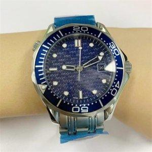 2020 nuevos hombres profesional 300m James Bond 007 esfera azul zafiro reloj automático mejor regalo del día del padre