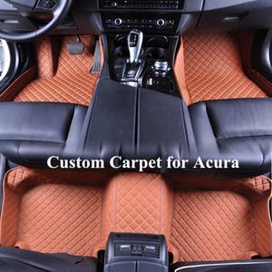 Acura MDX TLX TSX Lüks 3D Deri Araç Paspaslar Su geçirmez Fit Toz-Proof Toptan Özel Araç Paspaslar Lekeleri korur