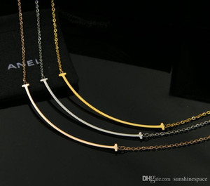 2019 New Women Necklace Gold Plated Smile Design 3Colors Wedding Neckalce For Gift