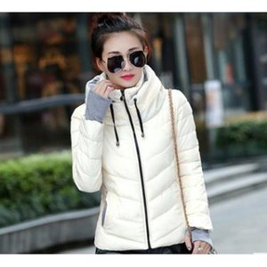 Women Winter Outerwear 2019 Womens Designer Solid Color Stand Collar Long Down Jacket Witn Zipper Winter Hot Sale Slim Casual Coat for Women