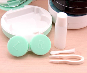 Marble Contact Lens Box with Mirror Marble Stripe Contact Lens Case Travel Glasses Lenses Box Eyes Holder Container GGA2702