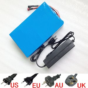 Sale 48V Scooter 27AH real 27.2Ah Electric Bicycle Battery with 54.6V 2A charger 30A BMS use Sanyo NCR18650BF 3400mah cells