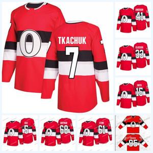 Womens Matt Duchene Ottawa senadores terceira Jersey 7 Brady Tkachuk 61 Mark Stone 68 Mike Hoffman 41 Craig Anderson 33 Mike McKenna