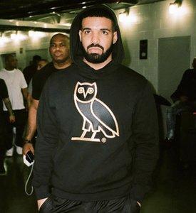 Mens Designer Hoodies Drake OG Owl Stickerei Hoodie VliesHoodie High Street Fashion Hoodie