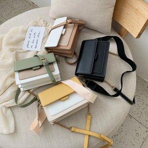 dames 2020Fashionable sac à bandoulière dames PU petit sac léger carré et messager quotidien femme polyvalent simple,