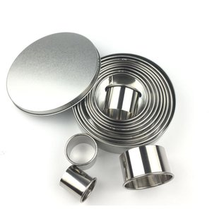 Double Sided Large Round Cutters ,Stainless steel mousse ring, Plain Edges, round cake mold, donut, fondant cookie mold baking tool, set of