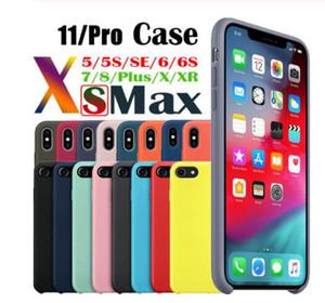Haben LOGO Original-Silikon-Kästen für iPhone 11 Pro Max Flüssig-Silikon-Kasten-Abdeckung für iPhone11 X XR XS Max mit Kleinpaket