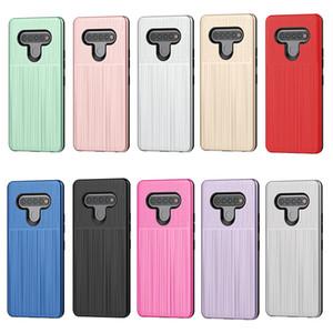 Für LG Stylo 6 K51 für Samsung Galaxy A01 Hybrid Brushed Rüstungs-Kasten Dual Layer-Schutz-Abdeckung D1