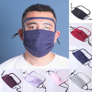DHL Shipping 2 In 1 Washable Face Masks Can Add Pm2.5 Filter Protective Eye Face Shield Cover Reusable Mask Without Filter X239FZ