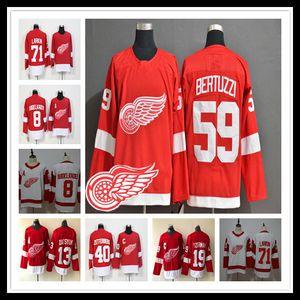 Detroit Red Wings Tyler Bertuzzi Jersey Hockey Moritz Seider Jimmy Howard Dylan Larkin Anthony Mantha Andreas Athanasiou Frans Nielsen Barato