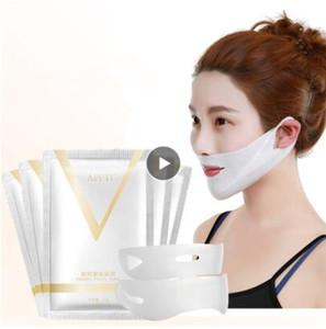 4D Doble V forma de la cara de la tensión que pone firme la máscara de papel que adelgaza eliminar el edema de elevación Herramienta del cuidado facial reafirmante Thin masetero