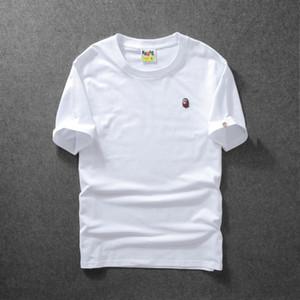 Erkek tasarımcı t shirt Bir BANYO Gömlek APE Maymunlar kafa Nakış logo Yaz Için Saf renk şort