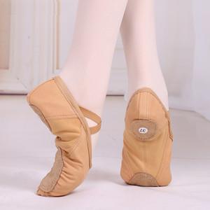 Canvans Bölünmüş Sole Bale Dans Ayakkabıları Toptan Yetişkin Kadınlar Pointe Bale Dans Ayakkabıları Terlik Balerin Aşınma Kızlar
