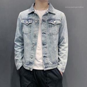 Ceket Erkek Giyim Erkek Jeans Dış Giyim Artı boyutu Uzun Kollu Casual Coats Moda Tek Breasted