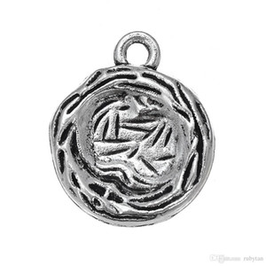 Ancient Silver Bird's Nest Charms Dangle Hanging Animal Charm DIY Jewelry Accessories Charms