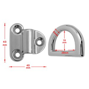 10x Boat Recessed Hatch Spring Loaded Pull Handle Marine Locker Flush Lifting Ring Stainless Steel - Size 1.7 x 1.4 inch