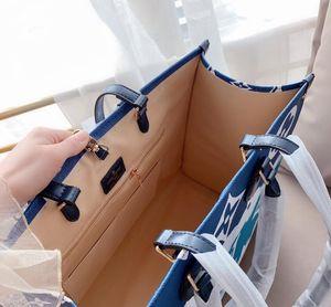 사용자 정의 이름을 최고 5A 품질 클래식 다채로운 책 토트 가방 디자이너 핸드백 자수 가방 대용량 쇼핑 가방을 인쇄