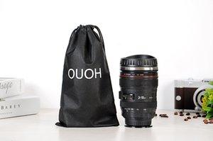 14oz Edelstahl Kameraobjektiv-Becher mit Deckel neuer fantastische Kaffeetasse, Teetasse Reise-Becher-freien Verschiffen A03