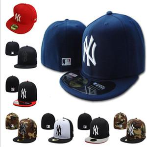 mayor del mens del diseñador gorras de béisbol sombreros NY clásico sombrero cabido fullclosed Embroiered teamNY aficionados logotipo del béisbol sombrero de copa