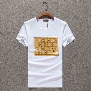 New style men's shirt summer tops men's short-sleeved shirt brand clothing letter pattern printed tee neck casual T-shirt