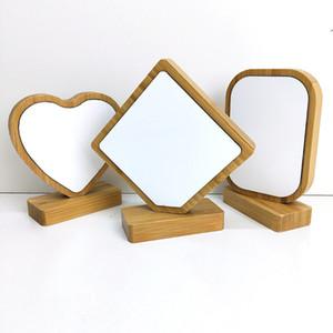 transfert thermique cadre photo en bambou 4 styles bambou blanc image de l'artisanat Rahmen pour les cadeaux de Noël de bureau Décoration A07