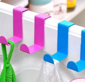 2ST 1lot Metallhaken Edelstahl Z-Form Tür Schreibtisch Schrank Aufhänger für Küchen Kleidung Tuch-Aufhänger-Halter KKA7921