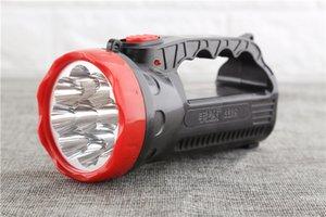 Super Bright recarregável 9LED Lanterna portátil Spotlight 2Mode Hunting Searchlight Handheld Outdoor Camping Caminhadas Torch Light