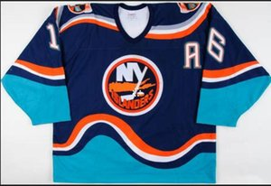 Donna-Uomo della gioventù Uomini Vintage # 16 Fishsticks Ziggy Palffy 1997-1998 New York Islanders gioco Worn