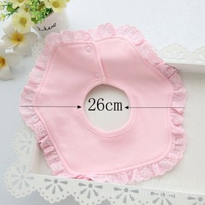 Bibs & Burp Cloths Baby Girls Lovely Cute Infant Saliva Burp Towels Kids Feeding Saliva Towel Babetes Cotton Lace Bow Baby Bibs