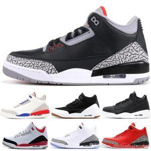 Wholesale 3 sneaker International Flight Pure White Black Cement Tinker JTH NRG QS Katrina Free Throw Line mens sport Shoes