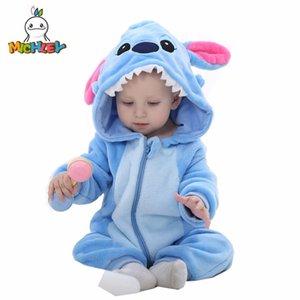 Michley Romper 2018 Yeni Geldi Bebek Sonbahar Erkek Karikatür Mavi Giysiler Kız Tek Parça Giyim Kış Tulumlar Xyz-2 J190525