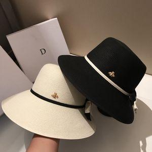 Arco sombreros de paja de ala ancha viaje sombreros de las mujeres al aire libre de la playa de vacaciones transpirable sombreros de Sun envío
